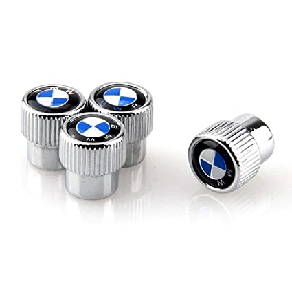 Carhome01 M Logo Tire Valve Stem Caps for BMW M Accessories Zinc Alloy Plating Chrome Universal Car Wheel Tire Valve Covers Set of 4
