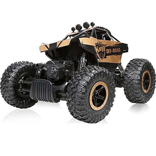 FX Big Feet 1:14 Four-wheel Drive Climbing 2.4Ghz Remote Off-road Vehicles High Speed Racing Children Toy Car All Terrain ( Color : Gold )