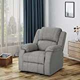 Michelle Classic Fabric Gliding Recliner, Grey For Sale