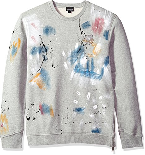 Just Cavalli Men's Sweatshirt, Grey Melange, - Men Just Cavalli