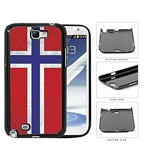 Norwegian Flag Dirty Grunge Hard Plastic Snap On Cell Phone Case Samsung Galaxy Note 2 II N7100