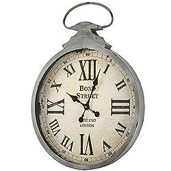 American Art Decor Bond Street West End London Oversized Vintage Antique Metal Pocket Watch Wall Clock 28