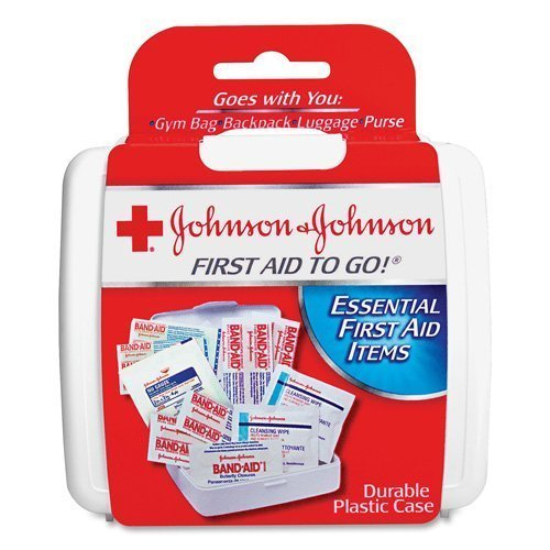 First Aid to Go! - by Johnson & Johnson - Essential Items in a Mini First Aid Travel Kit for People on the Go - 12 Packs of 12 Count Kits