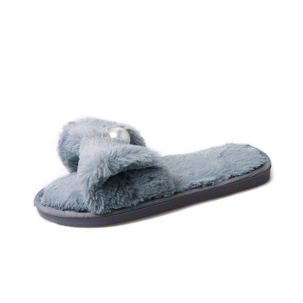 SED Pantofole da donna Bottoni di parola con fondo spesso da indossare,31 Eu,Grigio 31 Eu
