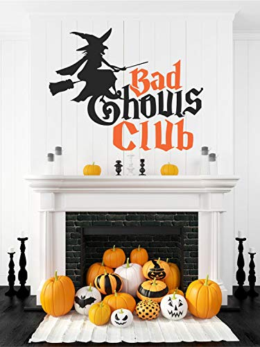 Witch Halloween Decal Halloween Wall Decal Haunted House Decal Halloween Party Decor Halloween Party Decal Bad Ghouls Club 24
