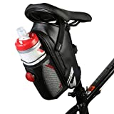 Allnice Waterproof Bike Seat Bag Mountain Road MTB Bike Bicycle Cycling Carbon Fiber Saddle Bag with Bicycle Tail Light, Bike Water Bottle Repair Tools Pocket Pack Riding Cycling Supplies (Dark Blue)