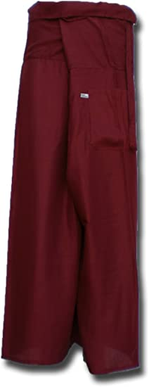 Fisherpant Fisherman Pant ** WINE RED ** Pants Yoga Wrap Sport Thailand Thai Long by Original from einfachklever