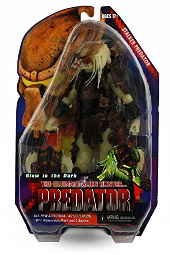 "Predators 7"" Stalker Glow In The Dark Predator Action Figure NECA Series 16"