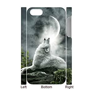 LZHCASE Diy 3D Protection Hard Case Wolf Howling For Iphone 5C [Pattern-1]