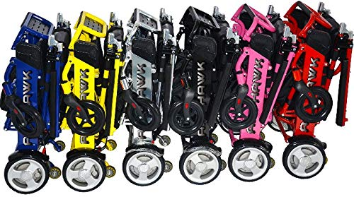 Air Hawk Power Chair Pink- Lightest Weight 41 lbs Folding fits in Car Trunk ()