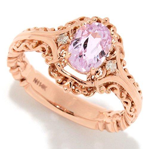 Kunzite Ring (Michael Valitutti 14K Gold Exotic Kunzite & Diamond Ring)