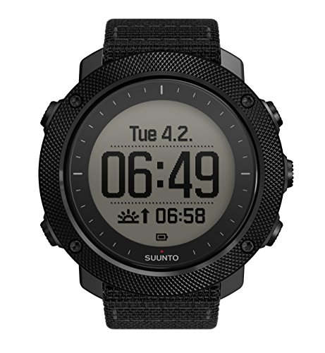Suunto Traverse Alpha GPS/GLONASS Watch with Versatile Outdoor Functions for Fishing and Hunting and Wearable4U Ultimate Power Pack Bundle (Stealth) by Wearable4u (Image #1)