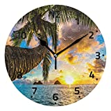 Wamika Space Nebula Star Wall Clock Battery Operated Non Ticking Silent Star Clock for Living Room Kitchen Bedroom Home Decor Decoration