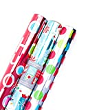 Hallmark Christmas Wrapping Paper, Ho Ho Ho Foil (Pack of 3, 60 sq. ft. ttl.)