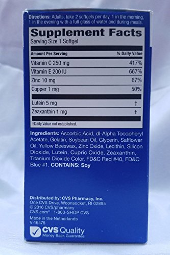 CVS Health Vision Health Advanced Eye Supplement, 90CT by CVS (Image #1)