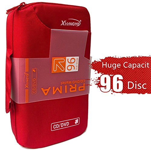 96 CD/DVD CD Case Binder Portable Huge Capacity Disc Container ()