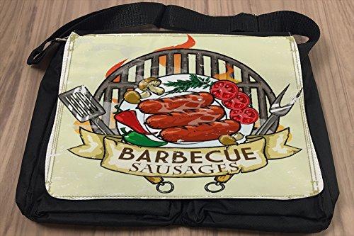 Borsa Tracolla Divertimento Barbecue Stampato
