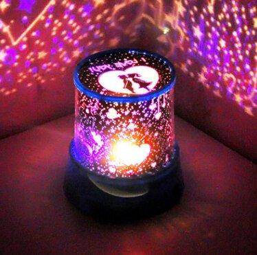 Creative Romantic Couple Star Light Mute LED Projection Light Star Daylight Valentine's Day Gift 89x110x120 (mm)
