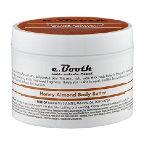 C.Booth Honey & Almond Body Butter 8 Ounce Jar (235ml) (2 Pack)