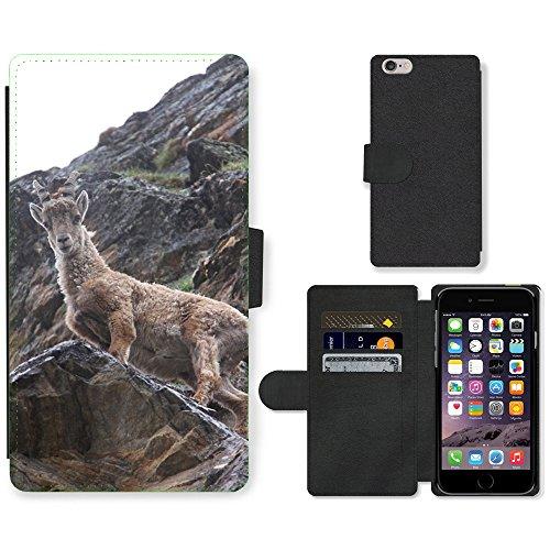 "Just Phone Cases PU Leather Flip Custodia Protettiva Case Cover per // M00128849 Capricorne Zodiac animal sauvage // Apple iPhone 6 PLUS 5.5"""