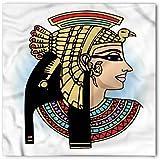 Ambesonne Egyptian Bandana, Queen Cleopatra Art, Unisex Head and Neck Tie