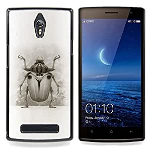 - Bug Beetle Drawing Wings Nature Legs Art - - Snap-On Rugged Hard Cover Case Funny HouseFOR Oppo Find 7 X9007