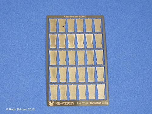 RB Productions 1/32 Scale He 219 Radiator Cowl Gills for Revell - RBP32029 ()