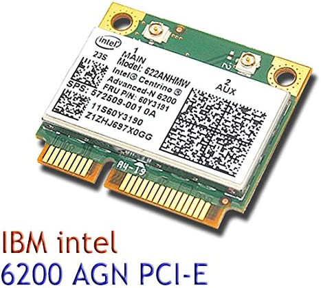 Intel 6200 622ANHMW AGN 802.11n wireless N Half Mini card for IBM T510 X201 T410