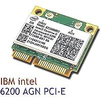 Intel 6200 622ANHMW AGN 802.11n wireless N Half Mini card for IBM T510 X201 T410