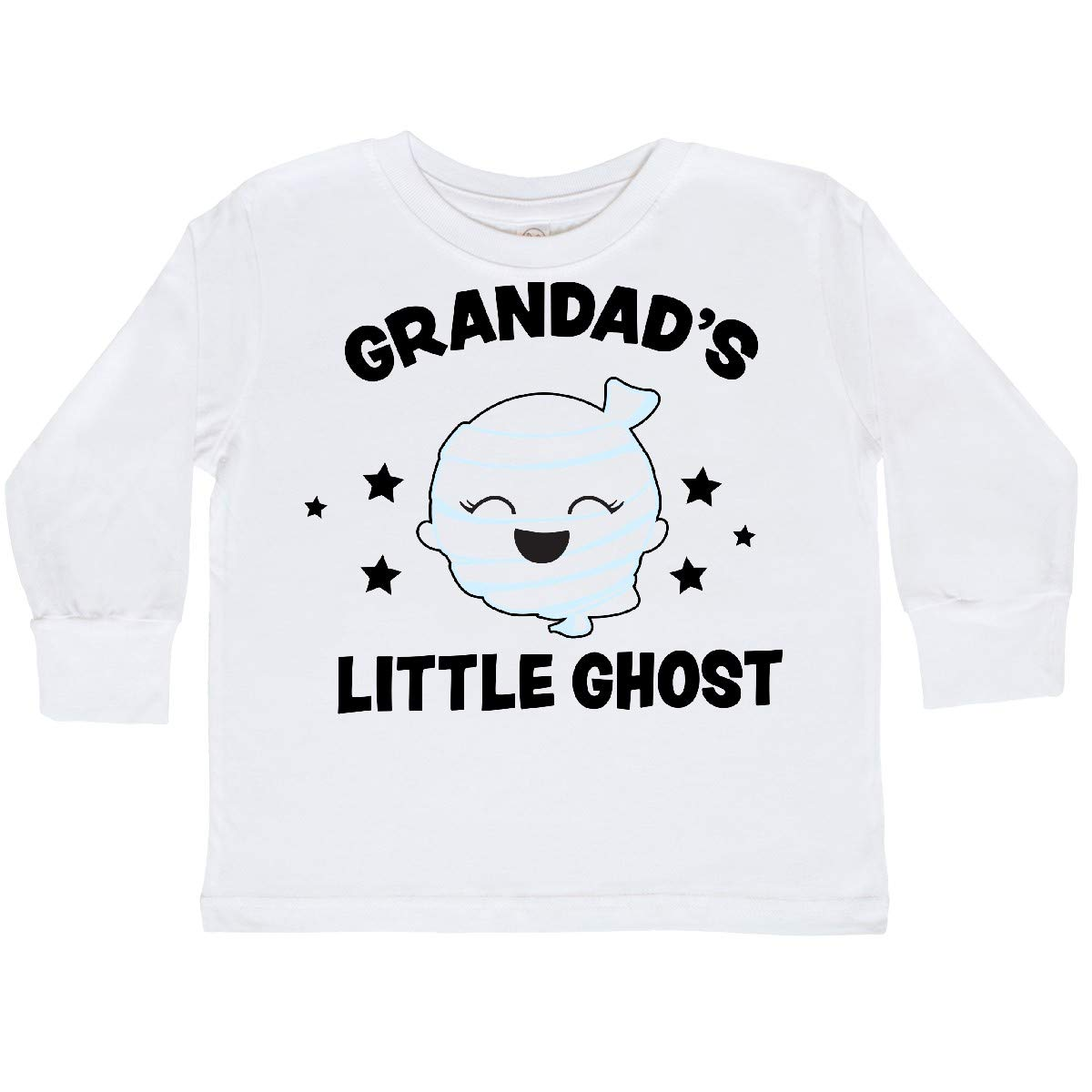 inktastic Cute Grandads Little Ghost with Stars Toddler Long Sleeve T-Shirt
