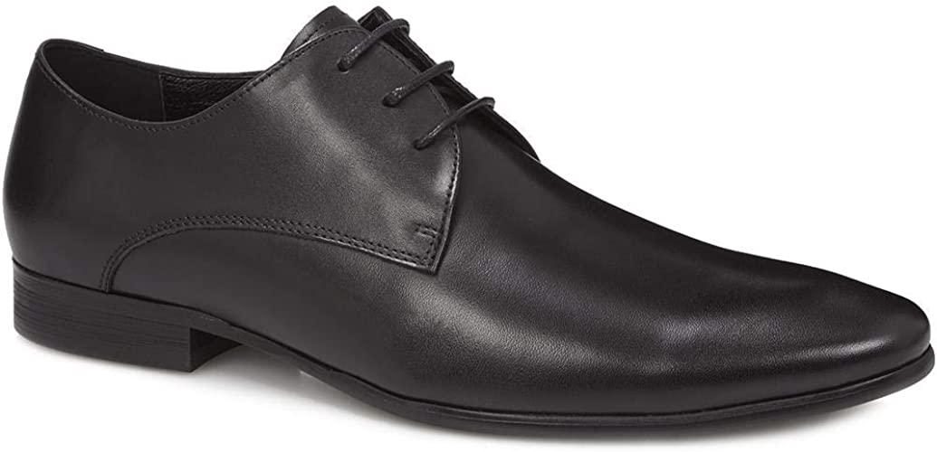 Base London Novello Mens Formal Smart Leather Derby Dress Shoes Brown