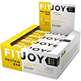 FitJoy Protein Bars Low Carb Low Sugar, Gluten Free High Protein Snacks, Grandma's Lemon Square, 12 Bars