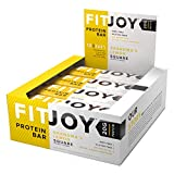 FitJoy Protein Bars Low Carb Low Sugar, Gluten Free High Protein Snacks, Grandma's Lemon Square, 12 Bars For Sale