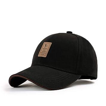 5659bf52 MZ Baseball Caps Solid Color Hat Adjustable Size Adult,Black,Adjustable