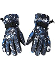 EGOGO Waterproof Windproof Warm Winter Insulated LinedSnow Gloves Skiing Snowboarding Gloves with Buckle for Men, Women, Boys and Girls E605-5