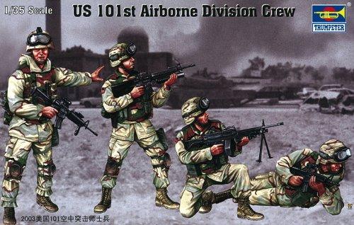 Division Figure Set (Trumpeter US 101st Airborne Division Crew Figure Set, Scale 1/35, 4-Pack)