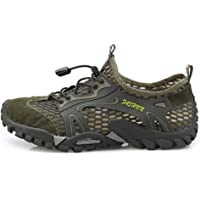 Apostasi Men Breathable Mesh Waterproof Shoes,Outdoor Climbing Hiking Non-Slip Sneakers,Quick-Dry Beach Shoes Barefoot Lightweight Aqua Socks for Water Sports Surf Beach Pool Exercise