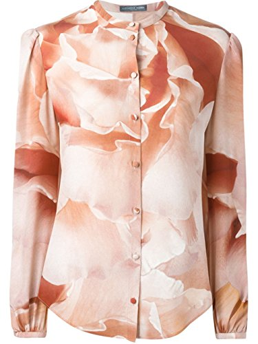Alexander McQueen Rose Print Silk Blouse 38 Alexander Mcqueen Women Shirts