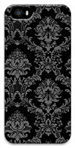 Black Damask For Ipod Touch 4 Phone Case Cover PC Material 3D(Compatible with Verizon,ATT,Sprint,T mobile,Unlocked,Internatinal) Kimberly Kurzendoerfer