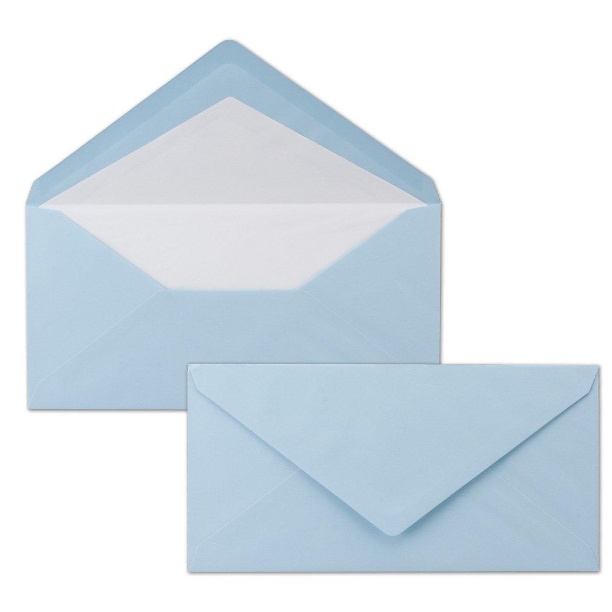 300 DIN Lang Briefumschläge - bunt mit weißem Seidenfutter - Rosa - 11x22 cm - 80 g m² - ideal für Einladungen, Weihnachtskarten, Glückwunschkarten aus der Serie Farbenfroh B079Y3SYBY | Moderate Kosten