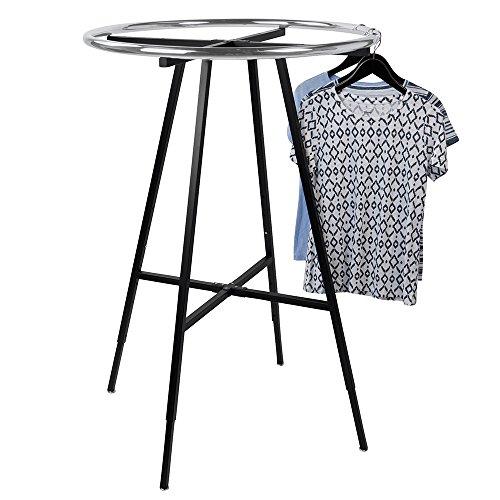 Black Round Clothing Rack by SSW Basics LLC