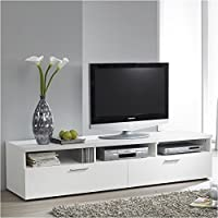 Pemberly Row 71 TV Stand in White