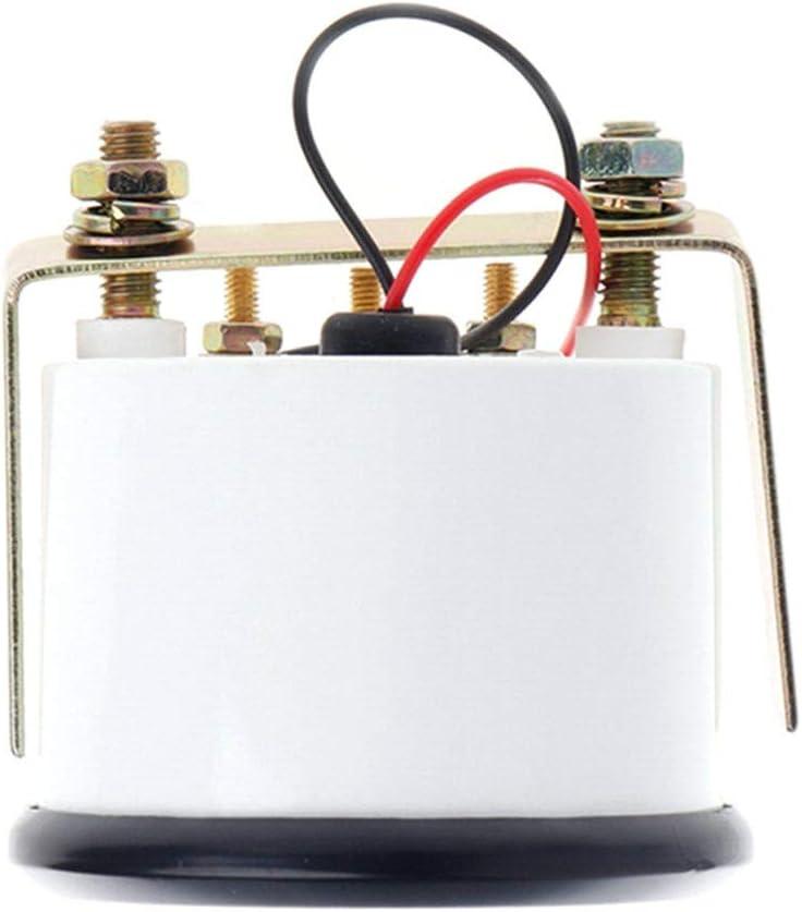 RENNICOCO Lunetta Nera Gas Indicatore di Livello Carburante LED Rosso analogico Auto Marine Boat 52mm 12V