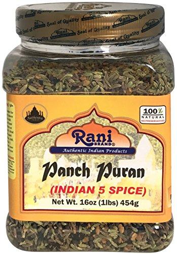 (Rani Panch Puran (5 Spice) 16oz (454g) ~ All Natural | Vegan | Gluten Free Ingredients | NON-GMO | Indian Origin (Equal Blend of Fenugreek, Mustard, Kallonji, Fennel and Cumin))