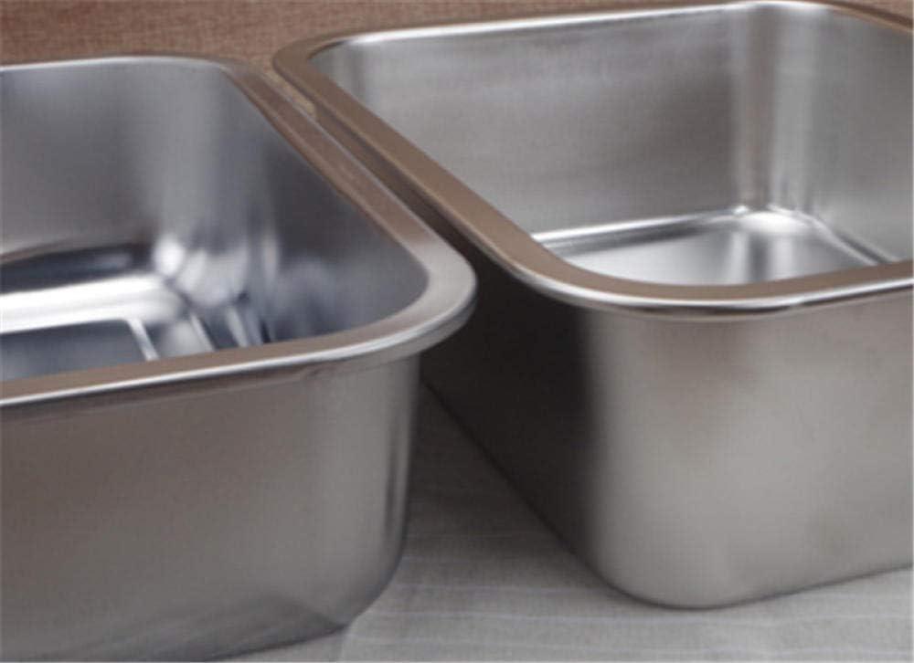 Plaque en acier inoxydable plateau rectangulaire plaque carrée plat de cuisson au four plat profond japonais grill barbecue cafétéria étagère rôtissoire-45x35x10cm 40x30x10cm