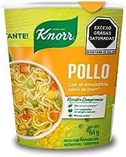 Knorr, Sopa Lista ¡al instánte! Pollo Knorr 64g. Con un toque de Knorr. Vaso sin unicel., 64 gramos. El empaqu