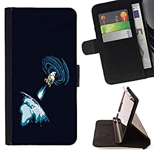 DEVIL CASE - FOR Samsung Galaxy S3 Mini I8190Samsung Galaxy S3 Mini I8190 - Space Blast - Style PU Leather Case Wallet Flip Stand Flap Closure Cover