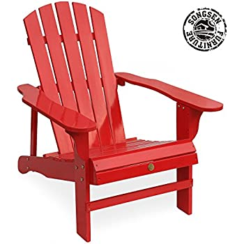 Amazon Com Leigh Country Tx 94050 Adirondack Chair Red