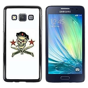 Be Good Phone Accessory // Dura Cáscara cubierta Protectora Caso Carcasa Funda de Protección para Samsung Galaxy A3 SM-A300 // Pirate Skull White Communist Russian