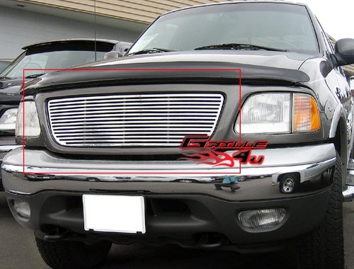APS Fits 99-03 Ford F-150/Lightning/Harley Davidson Main Upper Billet Grill #N19-A21759F